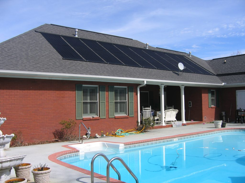 solar program used to heat a residential pool
