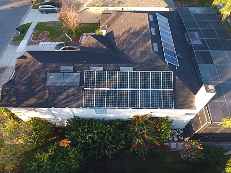 residential solar panel system using energy from the sun to power a home