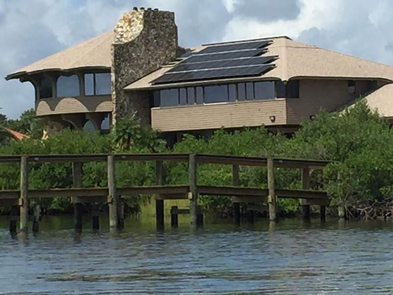 all american solar panels getting sun energy near water