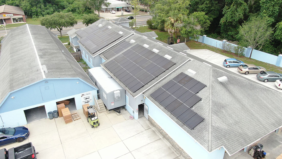 All-American Solar panels for commercial plumbing