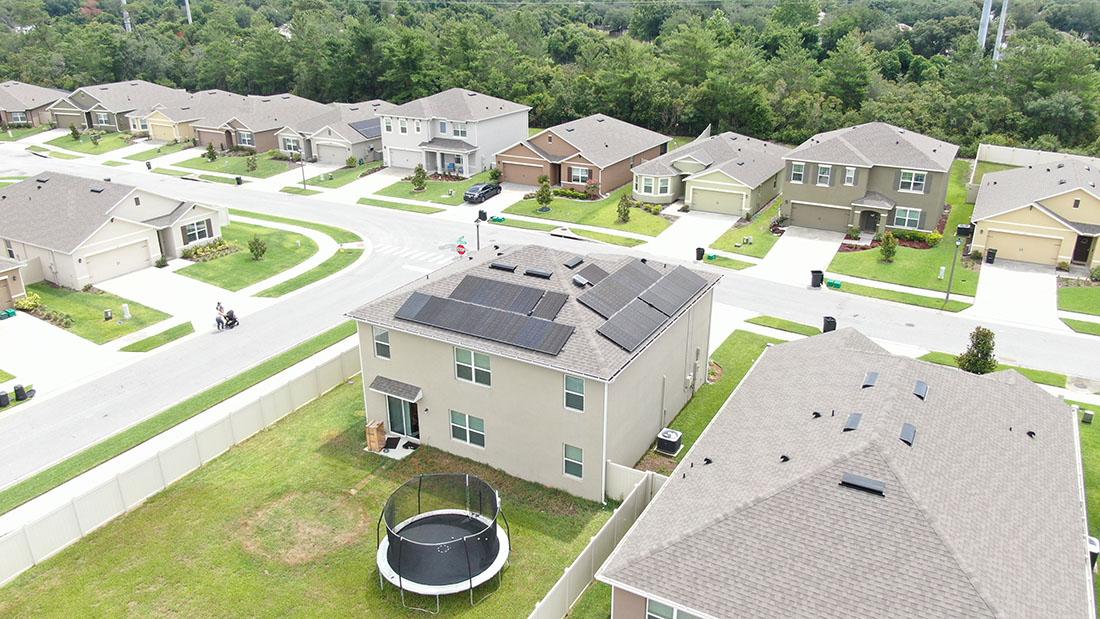 Residential Solar Panels Overhead